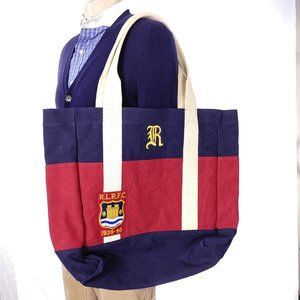 Ralph Lauren Rugby Canvas Carryall Tote Bag NWT